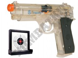 Taurus PT92 Airsoft BB Gun and Target Set Clear Official Replica